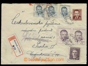 27627 - 1953 COB5 sent as Reg, uprated in front also on reverse, CDS