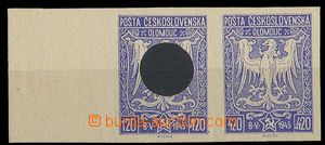 27661 - 1945 Olomouc issue, pair with one printing error values 120+