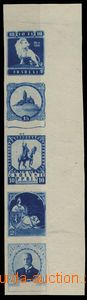 27664 - 1918 vertical strip of 5 in blue color with nehotovými desi