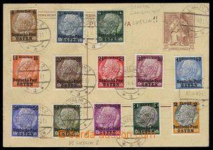 27673 - 1939 GENERALGOUVERNEMENT Mi.1-13 nalepeny na kartónu dopisn