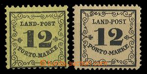 27681 - 1862 Mi.3x 2x, various color and size paper, hinged
