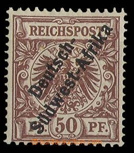 27687 - 1897 GERMAN SOUTH WEST AFRICA  stmp 50Pf with overprint Mi.I
