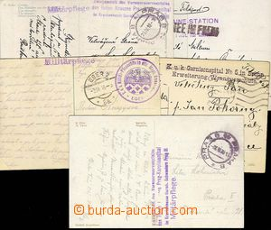 27697 - 1914-18 comp. 5 pcs of Ppc with postmarks hospital equipment