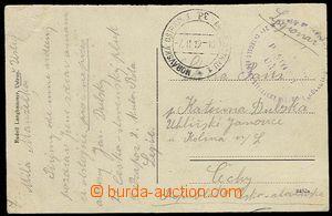 27719 - 1919 TESCHEN SILESIA  postcard from Ustroně sent legionary