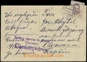 27730 - 1950 cenzurovaná pohlednice do věznice krajského soudu Ol