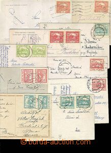 27746 - 1919-20 CZECHOSLOVAKIA 1918-39  selection 10 pcs of Ppc fran