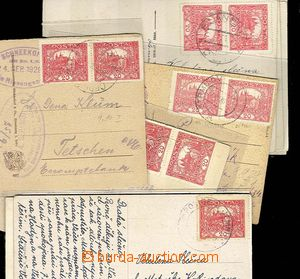 27751 - 1920 CZECHOSLOVAKIA 1918-39  selection 11 pcs of Ppc franked