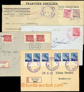 27765 - 1945 5 pcs of entires with provisory postmarks: Uh. Ostroh,