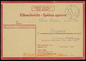 27798 - 1944 stationery Express Card No.1 type III, Us with CDS Brü