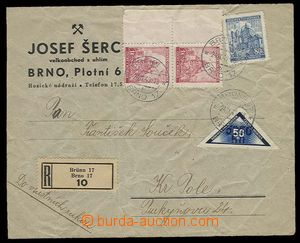 27806 - 1940 commercial Reg letter in the place, to own by hand, fra