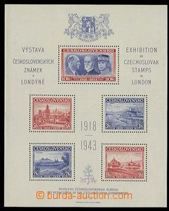 27827 - 1943 London MS AS1, mint never hinged, c.v.. 500CZK