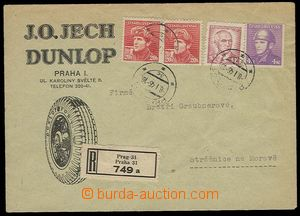 27844 - 1946 envelope with commercial additional-printing J.O. Jech