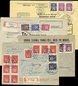 27862 - 1946-48 4ks dopisů vyfr. služebními zn. I. a II.vydání,