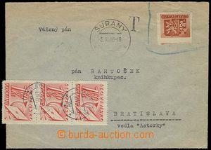 27864 - 1946 PROVIZORIA  dopis vyfr. již neplatnou zn. 2,40K Bratis