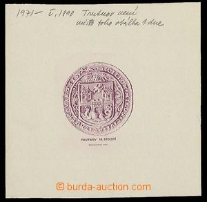 27873 - 1971 master die for FDC to/at stamp Pof.1890, Trutnov 60h