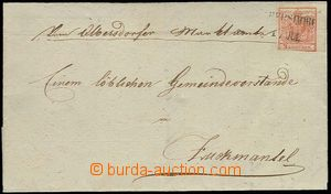 27878 - 1850 issue I, letter with 3 Kreuzer, Ia, HP with R margin 4,