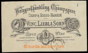 27882 - 1870 reklamní lístek firmy Vinc. Leibel & Sohn, poštovně