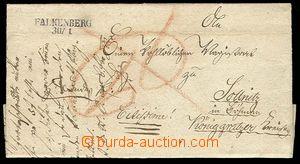 27886 - 1832 folded letter with straight line postmark FALKENBERG 30