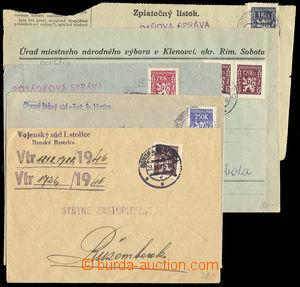 27915 - 1947-48 sestava 5ks celistvostí vyplacených služebními z
