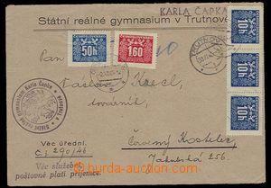 27917 - 1946 úřední dopis osvobozený od poštovného, s povinnos