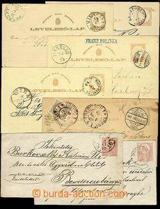 27936 - 1872-1900 7ks celin z toho 2x obálka 5Kr, Mi.U2, 5x dopisni