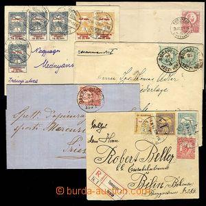 27944 - 1874-1917 sestava 5ks dopisů z toho 2x vyfr. zn. 5Kr I.emis