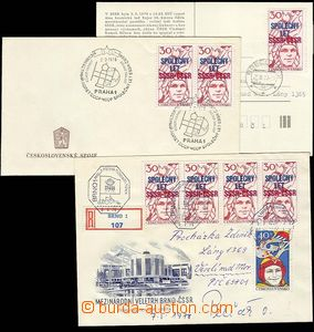 27953 - 1978 COSMOS  letter + FDC + promotional Ppc to/at joined fli