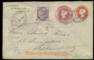 27960 - 1894 private postal stationery cover with printed stamps Vic