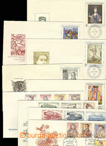27992 - 1955-66 selection of better FDC : Costumes I., Engines, Cost