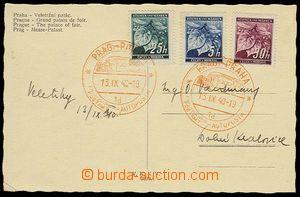 28016 - 1940 Mobile post office on a bus Prague/ 13.IX.40/ 1d, 2 pri