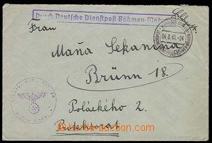 28018 - 1941 dopis zaslaný přes služební německou poštu s DR M