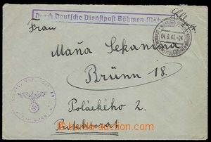 28018 - 1941 letter sent via official German post with CDS Mährisch