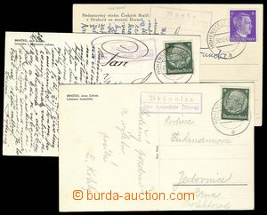 28022 - 1941-43 3ks pohlednic s razítky poštoven RAABE, KRUMPISCH,
