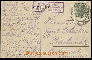 28023 - 1905 pohlednice s raz. poštovny SV. JAN POD SKALOU + DR Ber