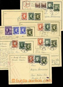 28028 - 1939-40 CDV2  comp. 6 pcs of uprated by. PC sent to Bohemia-