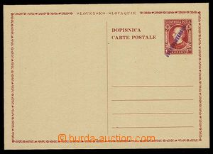 28084 - 1945 CDV-VI. výpomocné celiny, ruční fialový přetisk, bezvad