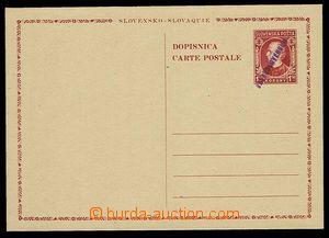 28084 - 1945 CDV-VI. provisional p.stat, hand-made violet overprint,