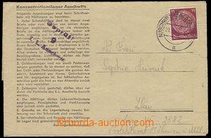 28093 - 1944 KT AUSCHWITZ - BIRKENAU  skládaný dopis na předtišt