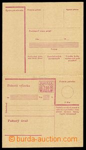 28114 - 1949 stationery CPV17Pa, folded, printed pin hole, very fine