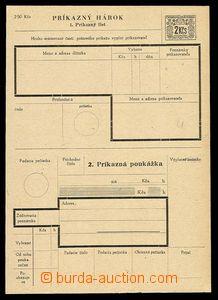 28115 - 1945 CPA3A, Slovak. text, unfolded, very fine, c.v.. 1300CZK
