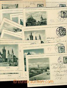 28141 - 1937 CZECHOSLOVAKIA 1918-39  selection 22 pcs of CDV69, vari