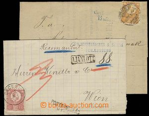 28143 - 1874 2k folded letters with stamp. issue I, 1x printed matte