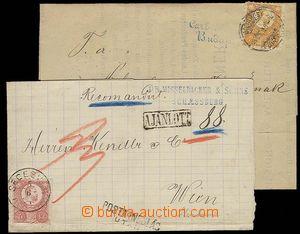 28143 - 1874 2k skládaných dopisů se zn. I.emise, 1x tiskopis vyf