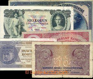 28155 - 1926-32 ČSR I., č.21, 22, 24, 25, 26, 4x SPECIMEN, kvalita