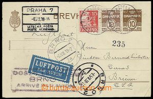 28166 - 1938 by air mail sent PC Mi.P107 to Czechoslovakia, CDS Cope