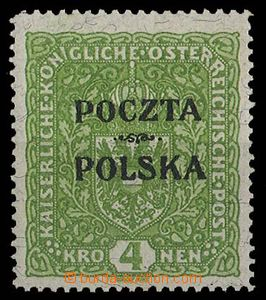 28189 - 1919 Mi.46, overprint POCZTA POLSKA, label, expertized, cat.