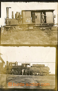 28206 - 1930? steam locomotive, 2-views photo postcard, on reverse n