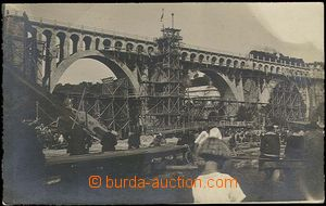 28208 - 1930? construction viaduct, photo postcard, in/at imprint Ml