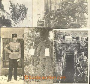 28224 - 1915-18 Rakousko-Uhersko - sestava 5ks fotopohlednic, vojáci