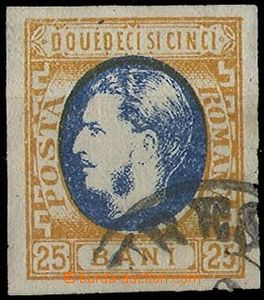 28226 - 1869 Mi.24, imperforated, wide margins, postmark through/ove